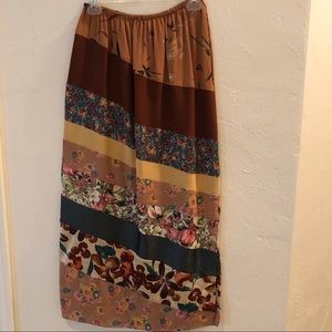 Dresses & Skirts - Rayon multi-patterned skirt. So cute! Made in USA.